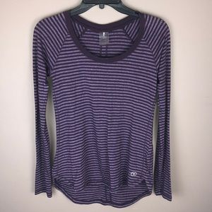 Calia by Carrie Underwood Striped Athletic Top